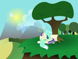 Lyra and Bon Bon by KalleFlaxx