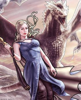 Daenerys Targaryen - Mother of Dragons by RaffaeleMarinetti