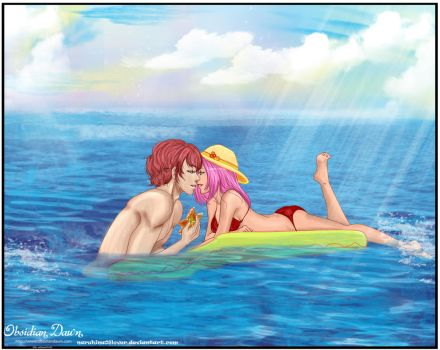 Comm: beach date by naruhina08lover