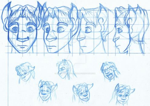Character Face Model by Animator-who-Draws