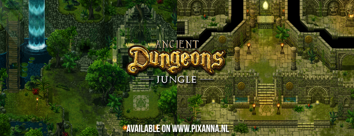 Ancient Dungeons: Jungle tileset by PinkFireFly