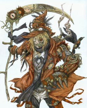 Steampunk Scarecrow by eoghankerrigan