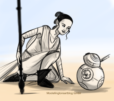 Rey and BB-8 by Moolallingtons