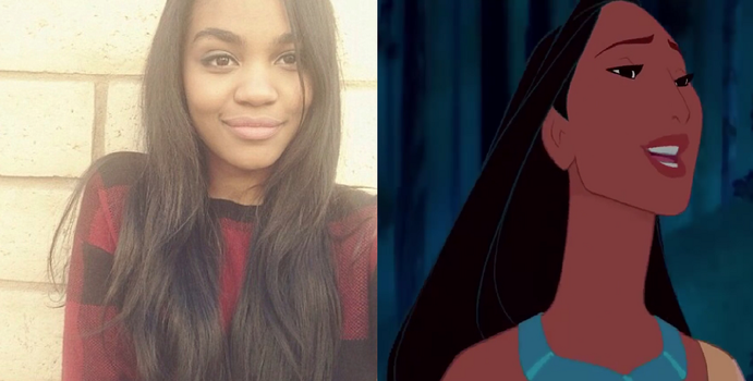 Anne china McClain as Pocahontas by AUBREY1144