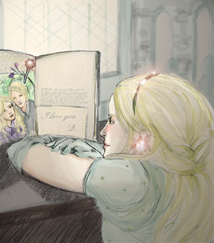 DMalfoy and LLovegood by SnacoSoul