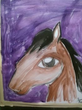 Horse I Made in Jesters art class 1 by rosepetal179