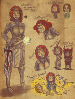 Skyrim Doodles by Angelkaat
