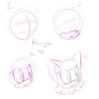 How to Draw Rouge's Head by GirGrunny