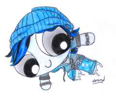 Monster High Powerpuffs-InvisiBilly by RandomObsessive