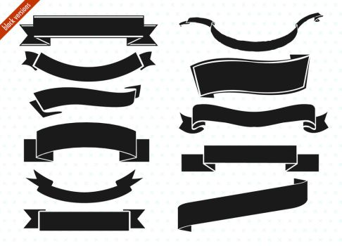 ribbon banner set by PicturesOfPelicans