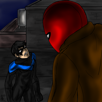 Nightwing and the Red Hood by Maygirl96