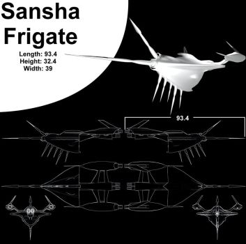 Sansha Frigate Blueprint Style by Sundervine