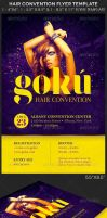 Hair Convention Flyer Photoshop Template by Godserv