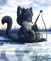 Ice Fishing~ by Blossom-fur7