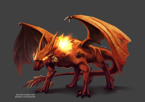 Neru the Fire dragon by zkoyllar