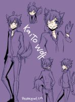 Kaito wolf- Doodle by RedRegret