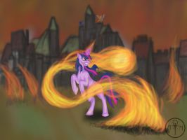 Wrath of Twilight Sparkle - now 20% cooler by Adalbertus