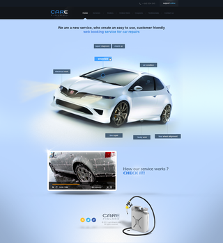 CARE Finland - web booking service for car by Bob-Project