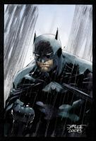 Batman in the Rain jimlee00 by SpicerColor