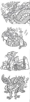 Dragon Coloring Pages- Batch #1 by Phillistrations