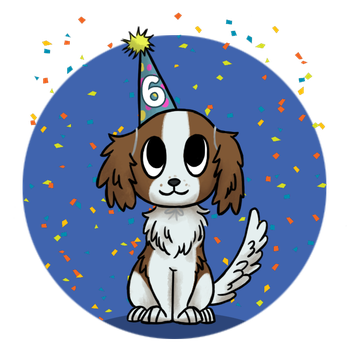 Biscotte turned 6 today! by Gluglotte