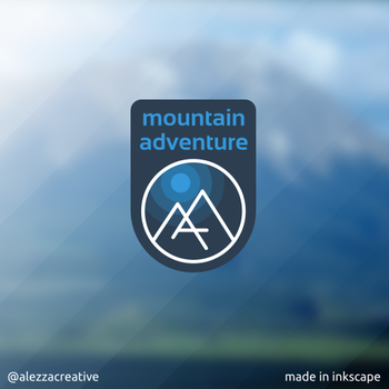 Mountain Adventure logo by alezzacreative