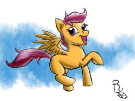 Day 17- Scootaloo by RavenousDrake