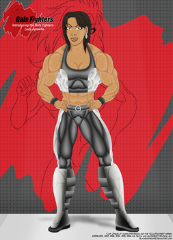 Introducing the Gals Fighters No.7 - Lady Jynnelle by BlackSandrock10