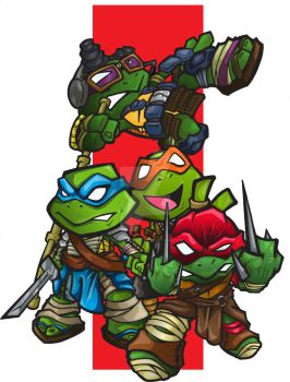 TMNT Michael bay version by bunleungart