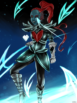 Undyne the undying by Shraeliah