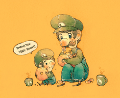 Sweet Tooth Luigi by Luce-in-the-sky