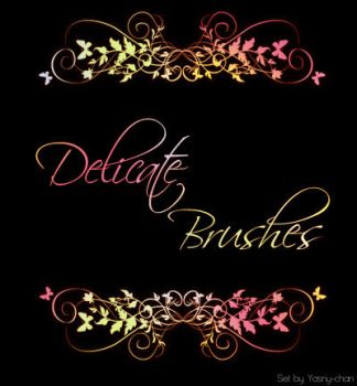 Delicate brushes by Yasny-resources