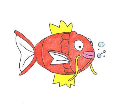 151 Artists draw 151 Pokemon!  Magikarp (#129) by WalkerP