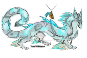 Adoptable dragon/creature scetch by TaraviAdopts