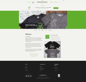 Shake Shack Website by Garconis