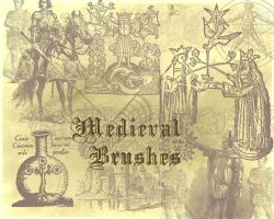 Medieval brushes by Mella68