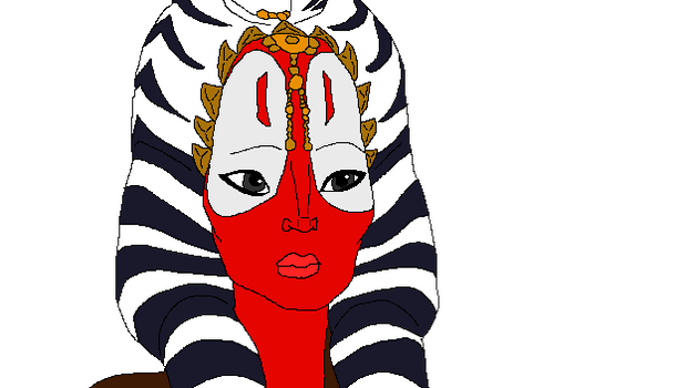 shaak ti unknown colored by ecanerdygirl