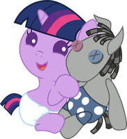 Baby Twilight Sparkle loves Smarty Pants by Mighty355