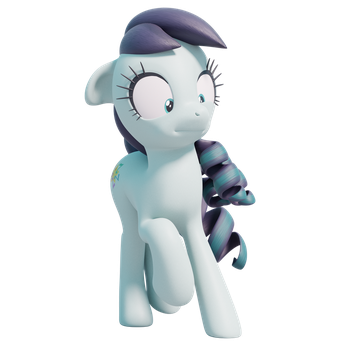 Yet Another Over-the-top 3D Pony Face by TheRealDJTHED