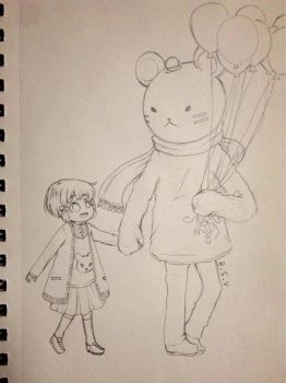 My Papa Is A Bear concept art! by heartsDmise