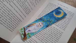 Owl bookmark for Leftiblind -photo- by Lelixiana