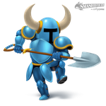 Shovel Knight Smashified (Transparent) by hextupleyoodot