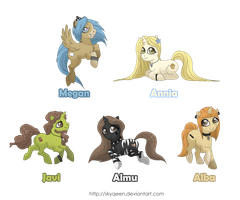 Personalized Ponies Commission by Almairis