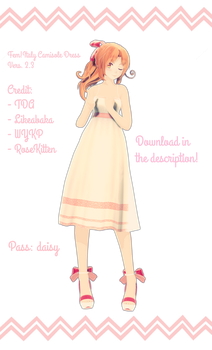 { MODEL DL } Fem!Italy Camisole Dress Vers. 2.3 by RoseKitten-Animation