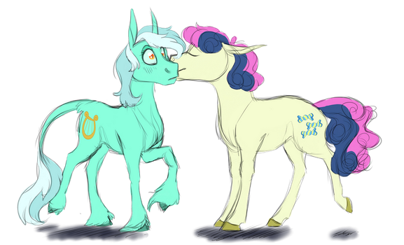 Lyra And Bon Bon by Nightyscribbles