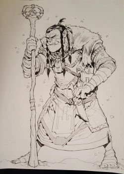 Orc Winter Witch by Max-Dunbar