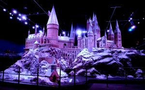 hogwarts castle in the snow, film set props by Sceptre63