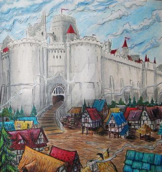 Winterfell in the summer by I-Love-My-Pencils