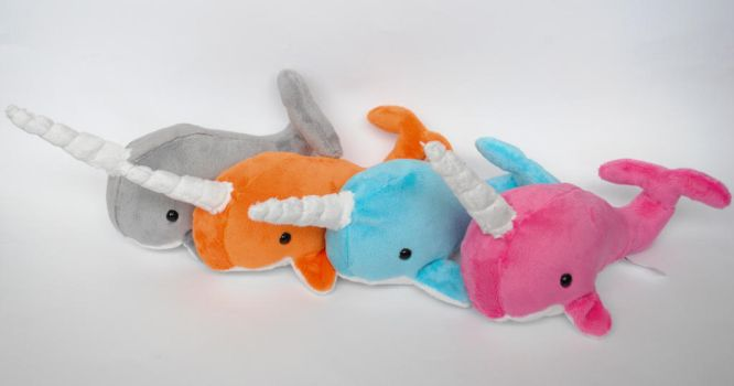 Minky Narwhals by radtastical