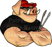 Happy Hawg BBQ Logo by Captain-D